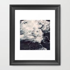 """Lost at sea Framed Art Print The Vector frame has a contemporary, angular profile measuring 0.87"""" wide x 0.87"""" deep. #sea, #ocean, #photo, #february, #waves, #water, #nature"""