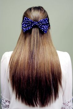 Hey, I found this really awesome Etsy listing at https://www.etsy.com/listing/124497161/large-navy-blue-and-white-polka-dot-hair