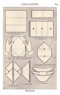 Fold Napkins-Doblar servilletas