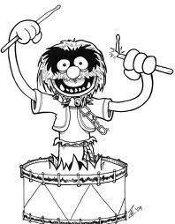 muppets coloring pages - Bing Images Drum Drawing, Painting & Drawing, Colouring Pages, Coloring Books, Coloring Sheets, Cartoon Drawings, Animal Drawings, Drums Cartoon, Drums Wallpaper