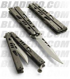 "Microtech Tachyon II Bowie Titanium Balisong Butterfly Knife (4.5"" SW Plain)"