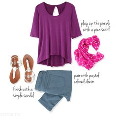 How to wear the color of spring: Radiant Orchid! - Stitch Fix!