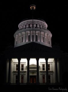 The Capitol at Night, Sacramento. @melissa m , did you guys go to the capitol?
