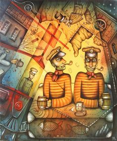 Two Captains by Eugene Ivanov. #@eugene_1_ivanov  #smoke #smoker #pipe #cigarette