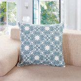Found it at Wayfair - Embroidered Lattice Cotton Throw Pillow