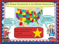 3 Branches of Government SMARTBoard File with Printables: Interactive and fun way for your students to learn about government!