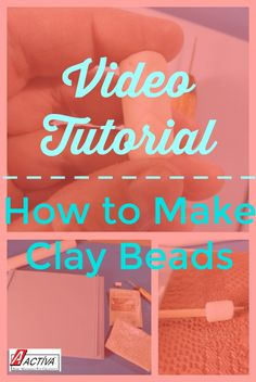 Learn how to make clay beads with air dry clay in this easy project! This video tutorial will show you exactly how to make clay beads in just a few simple steps. Easy Craft Projects, Clay Projects, Clay Crafts, Crafts For Kids, Project Ideas, Make Clay Beads, How To Make Clay, Polymer Clay Jewelry, Back To School Crafts
