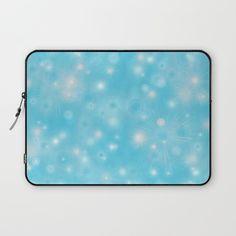 #laptop #laptopsleeve #blue #snowflakes