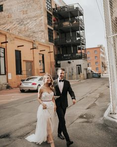 Just married & feeling absolutely fabulous / Edmonton Couple / Edmonton photographer / urban wedding/ urban elopement / urban wedding photos / just married / city wedding photos