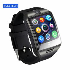 SCELTECH Bluetooth Smart Watch S18 With Camera Facebook Whatsapp Twitter Sync SMS Support SIM TF Card For IOS Android Phone //Price: $32.99 & FREE Shipping //     #hashtag1
