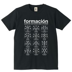 Formation - black - デザインサッカーTシャツ|EVERYDAY FOOTBALL