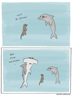 Never believed that sharks could be so cute. Drawing by Liz Climo.