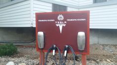 Our Tesla charging station by Jennifer R.