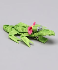 This Green Crocodile Clip by Nantucket Girl is perfect! #zulilyfinds