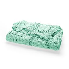 Color Verde Menta - Mint Green!!! Crochet Throw