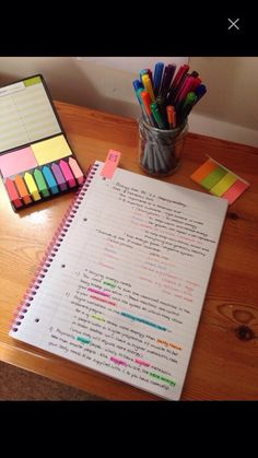 I chose this because I absolutely adore organized notes! Color coordinated and everything! These are how I'd like to do my notes in college!