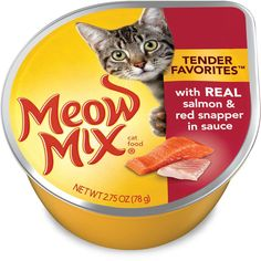 Meow Mix Tender Favorites with Real Salmon and Red Snapper In Sauce Wet Cat Food (12 Pack) >>> Awesome cat product. Click the image : Cat food