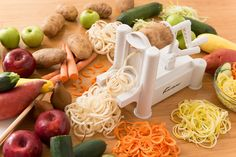 iPerfect Tri-Blade Vegetable Spiralizer Envy Spiral Slicer - Zucchini Spaghetti…