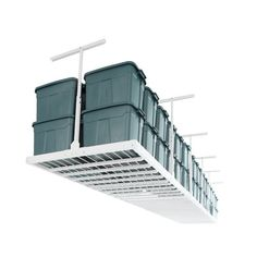 Monkey Bar Storage Ceiling Mounted Overhead Garage Storage System Rack