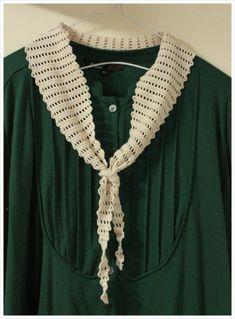 Tiny Scarf (프리패턴)- by 나무 Mode Crochet, Knit Crochet, Crochet Hats, Knitted Shawls, Crochet Scarves, Crochet Collar, Loom Knitting, Crochet Projects, Free Pattern