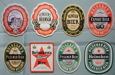 Heineken label evolution by olaborda, via Flickr