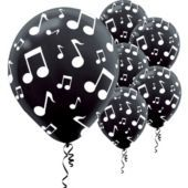 Musical Notes Latex Balloons 6ct - Party City