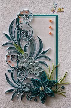 Neli Quilling Art: Quilling cards / cm - c - Best Paper Quilling Designs Neli Quilling, Paper Quilling Cards, Paper Quilling Flowers, Paper Quilling Tutorial, Quilling Work, Paper Quilling Patterns, Origami And Quilling, Quilling Paper Craft, Paper Crafts