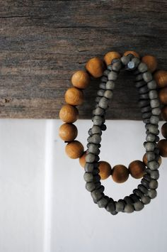 love hanging beads around the house...they add a little texture and earthy interest.