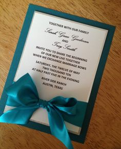 teal and silver wedding invitation by urinvitedus on etsy Teal And Grey Wedding, Aqua Wedding, Beach Wedding Reception, Tiffany Wedding, Diy Wedding, Wedding Colors, Wedding Ideas, Wedding Stuff, Handmade Wedding