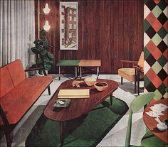 1958 Scandinavian Living Room by American Vintage Home, via Flickr