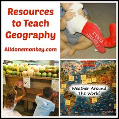 This website has tons of resources to teach Geography - Alldonemonkey.com. I loved the ideas I saw on here.  There are activities where students track the weather around the world using a map and where students find out what parts of the world their food comes from. Awesome resource I will definitely be revisiting this website!