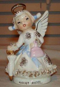 Vintage Lefton Ceramic August Birthday Angel Girl of The Month Figurine   eBay