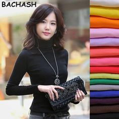 Cheap fashion sweater women, Buy Quality sweater women directly from China sweater women fashion Suppliers: BACHASH 2018 High Quality Fashion Spring Autumn Winter Sweater Women Wool Turtleneck Pullovers Fashion Women's Solid Sweaters Pullover Mode, Pullover Sweaters, Winter Sweaters, Sweaters For Women, Plus Size Womens Clothing, Clothes For Women, Spring Fashion, Autumn Fashion, Winter Shirts