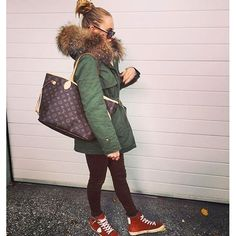 OOTD ❤️ #MiniParka + #Sneakers +#LV Bag We love stylish outfits that are…