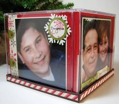 Christmas Idea for the Grandparents! Made out of CD cases!