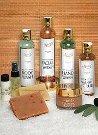 This is the ultimate package for ALL your personal skin cleansing needs.  			  			Your skin will feel younger, smoother, softer, rejuvenated and renewed!  			  			Enjoy full sizes of all our proprietary natural Liquid Washes, select handmade Soap Bars, plus our more intensive Walnut Scrub and Deep Cleansing Masque. Complimenting this set are additional generous 1 oz. Mini size bottles of Rejuvenating Toner Mist, plus rich Cremes and Lotions to further enhance and broaden your NaturOli…