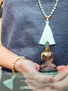Authentic 108 bead mala necklaces - Hand knotted, and blessed in Bali Gypsy Style, My Style, Yoga Mala, White Moonstone, Yoga Fashion, Autumn Winter Fashion, Jewelery, Handmade Jewelry, Bling