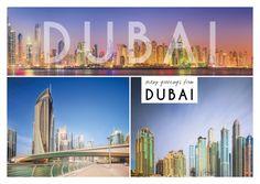 Many greetings from Dubai - Wolkenkratzer | Urlaubsgrüße | Echte Postkarten…