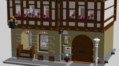 This is a half-timbered house with bakery, wood atelier and apartment. The house suits to the LEGO® Modular Buildings series collection. The house contains in the main floora...