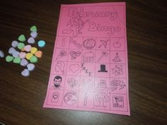 Valentine Bingo (with conversation hearts for markers)