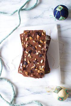homemade chocolate bars for the holiday season