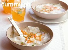 We lightened up this classic soup by swapping ground pork for chicken. Amp up the flavor of your dumplings by adding minced Chinese ham to the filling.