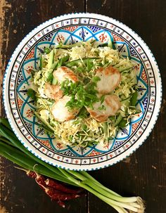 Asian Chicken Salad with Crunchy Noodles and Mango, Lime & Chilli Dressing