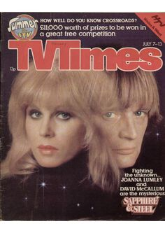 Cool show Joanna. Free Competitions, My Babysitter, Pop Posters, Joanna Lumley, David Mccallum, Fantasy Tv, Sci Fi Shows, Time Magazine, Magazine Covers