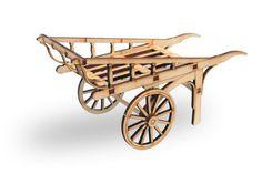 Spitalfields - Laser cut miniature hand cart kit in 1:12 scale