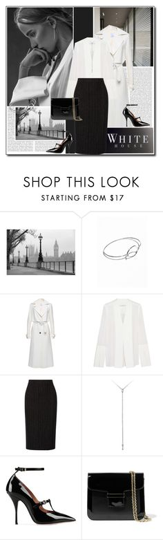 """Black&White Workwear"" by littlefeather1 ❤ liked on Polyvore featuring Oris, Haider Ackermann, White House Black Market, Dion Lee, DKNY, Kitsch, RED Valentino and Vanessa Seward"