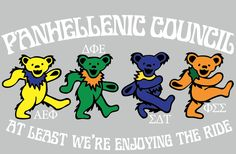 Panhellenic + Grateful Dead bears = AWESOME!!