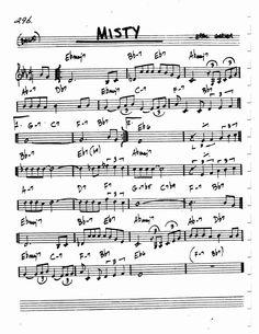 Jazz Standard Realbook chart MISTY