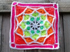 Ravelry: Sun Catcher Afghan Square pattern by Julie Yeager. $1.99