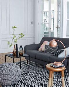 Puff de tricot tapete com estampa geométrica mesa minimalista e sofá moderno…